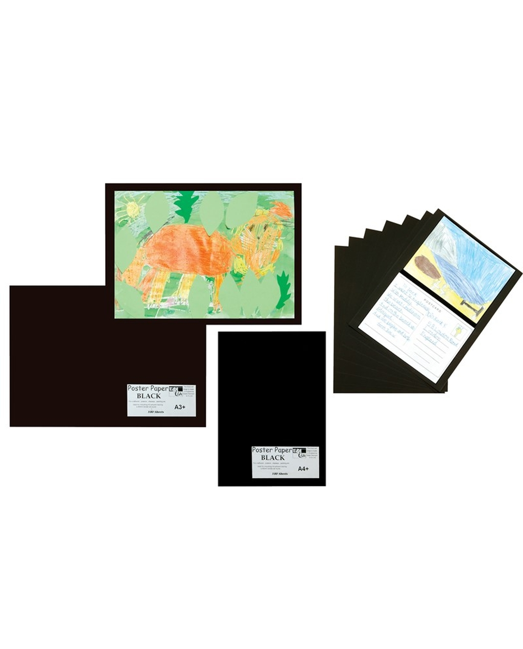 A4+ Black Mounting Paper 85gsm