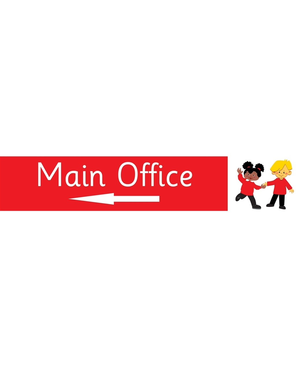 Main Office Left Arrow Sign Red