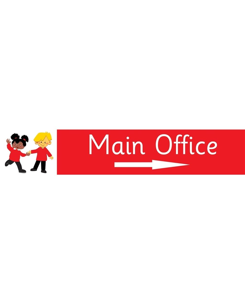 Main Office Right Arrow Sign Dark Blue