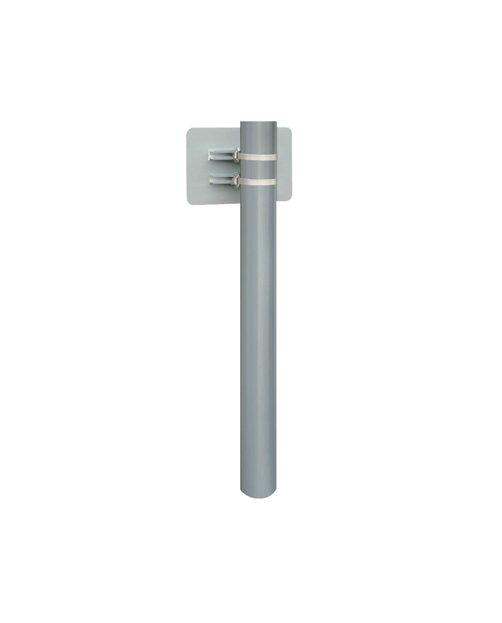 2m Aluminium post with Fixings