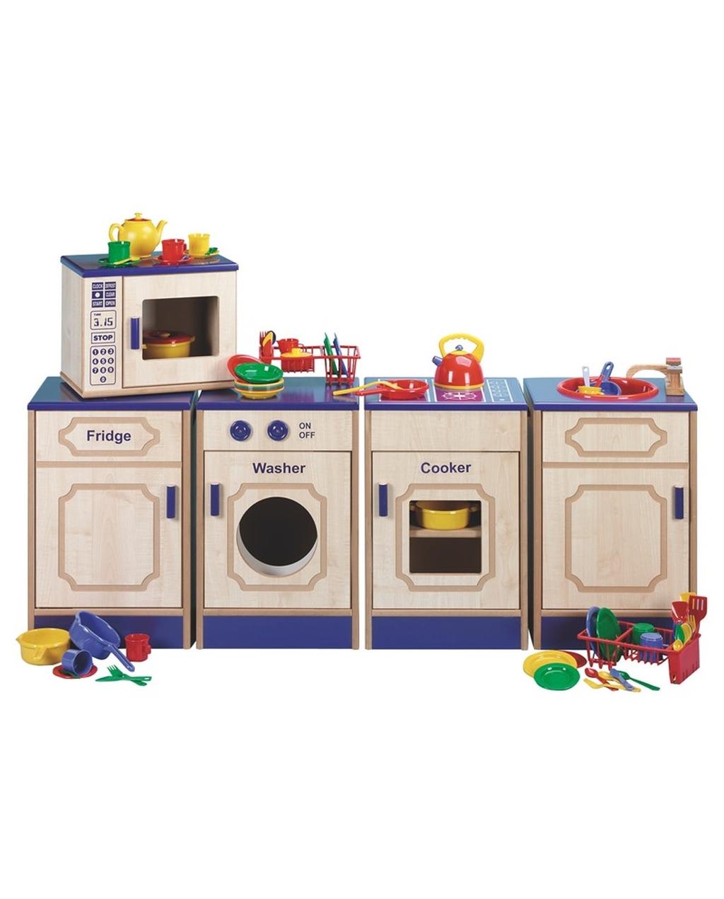 Assembled Kitchen wirh Kitchen Set