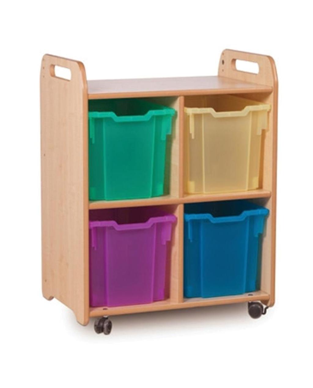 2 Column Storage Unit with trays