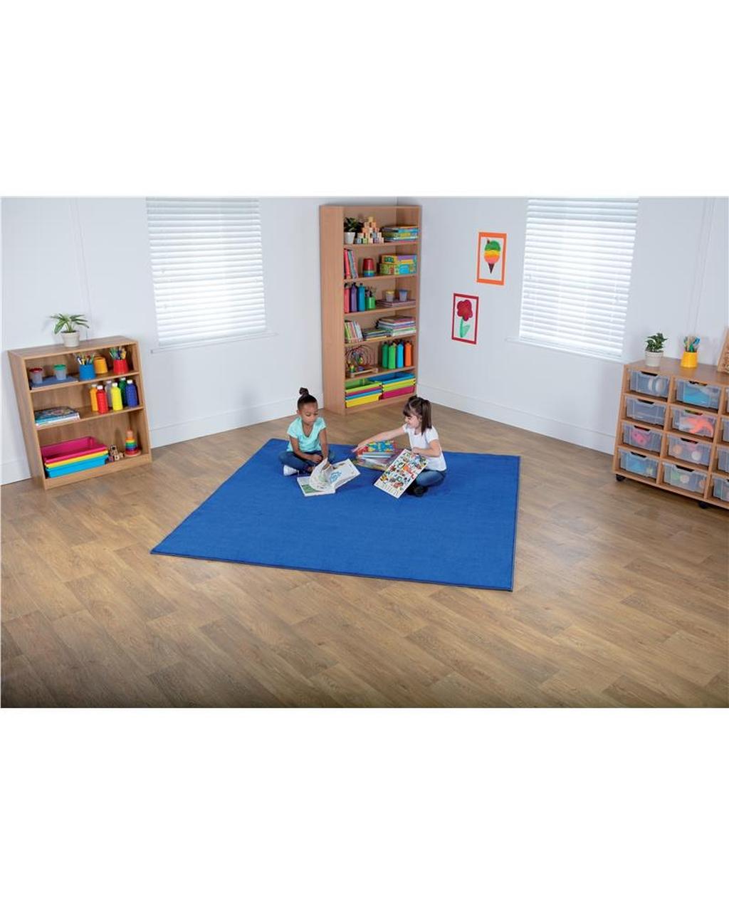 Blue Square Carpet