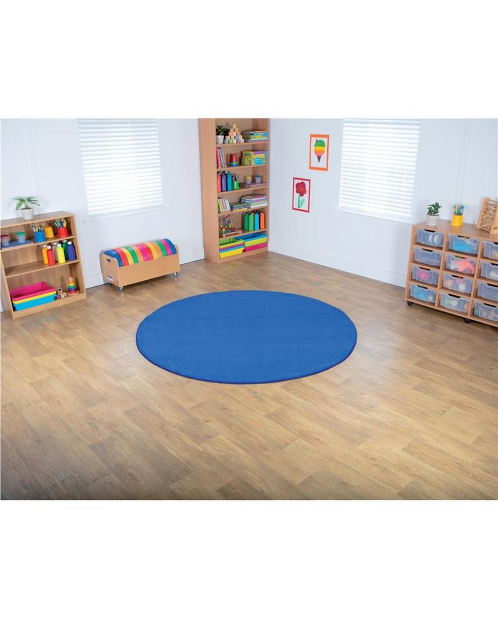 Blue Circular Carpet