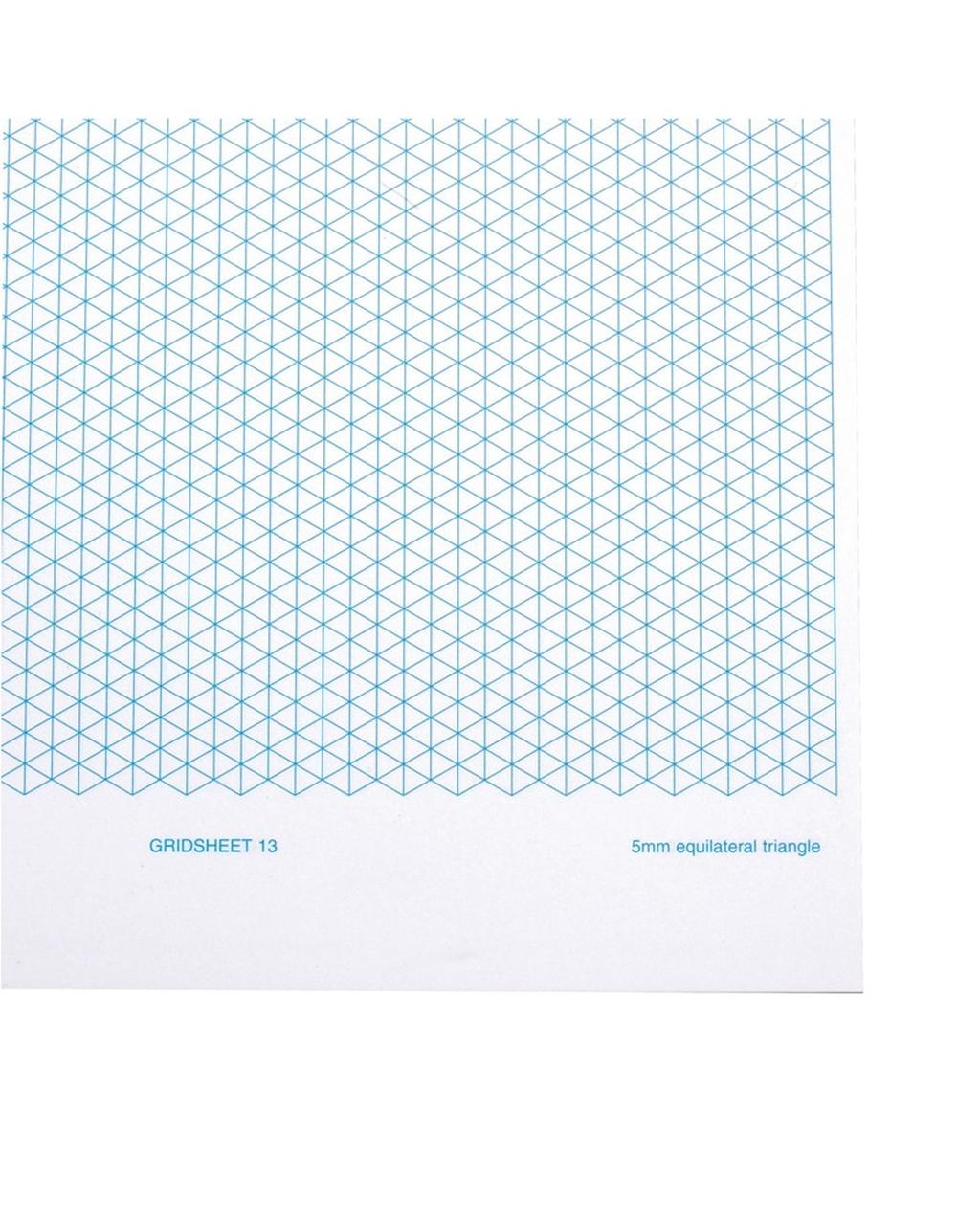 A4 5mm Triangular Grid Sheet