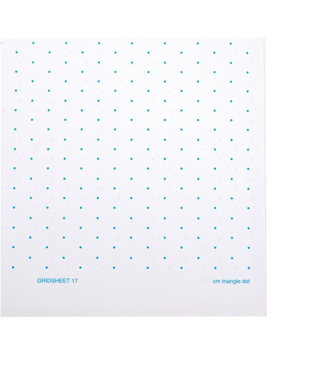 A4 10mm Triangular Dots Grid Sheet