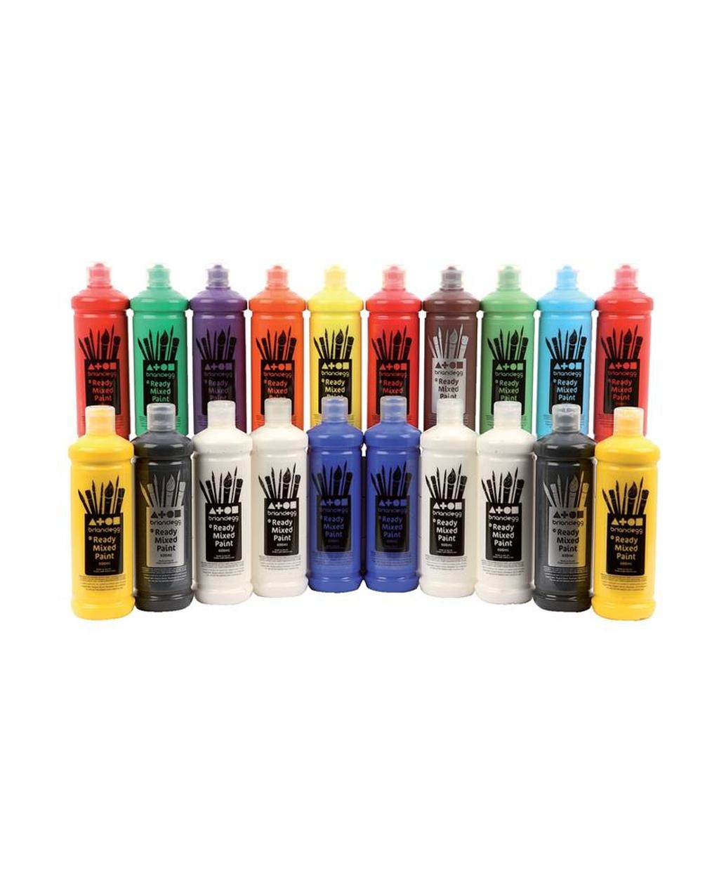 Ready Mixed Paint Class Pack - 600ml bottles