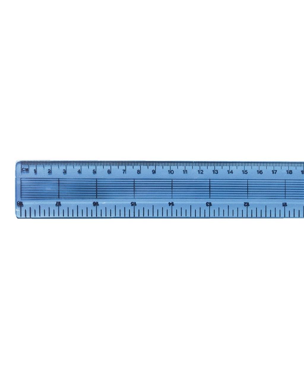 45cm Clear Plastic Ruler