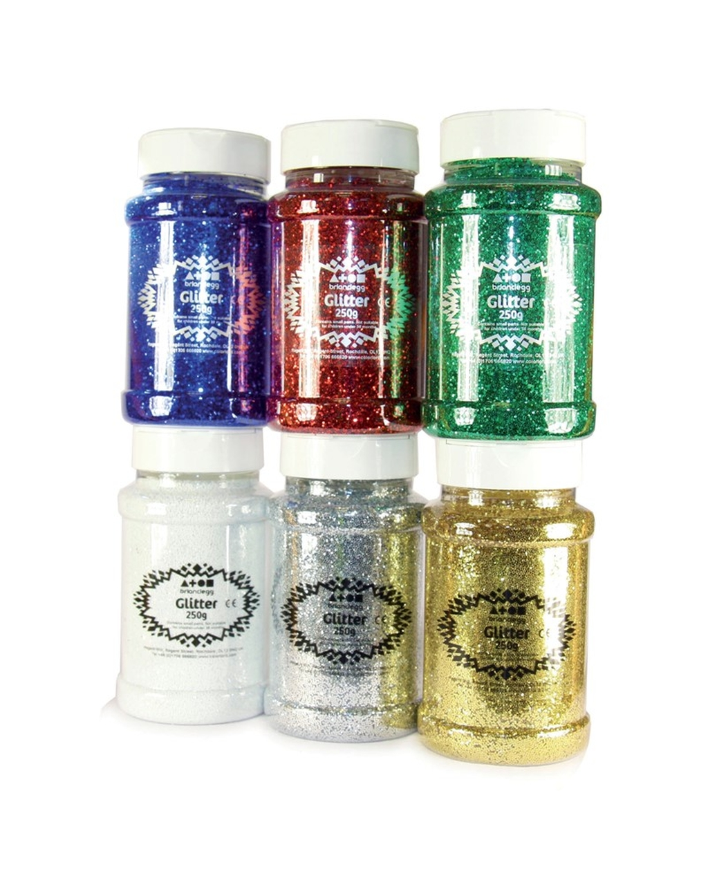 Glitter Flakes Shaker 250g Gold