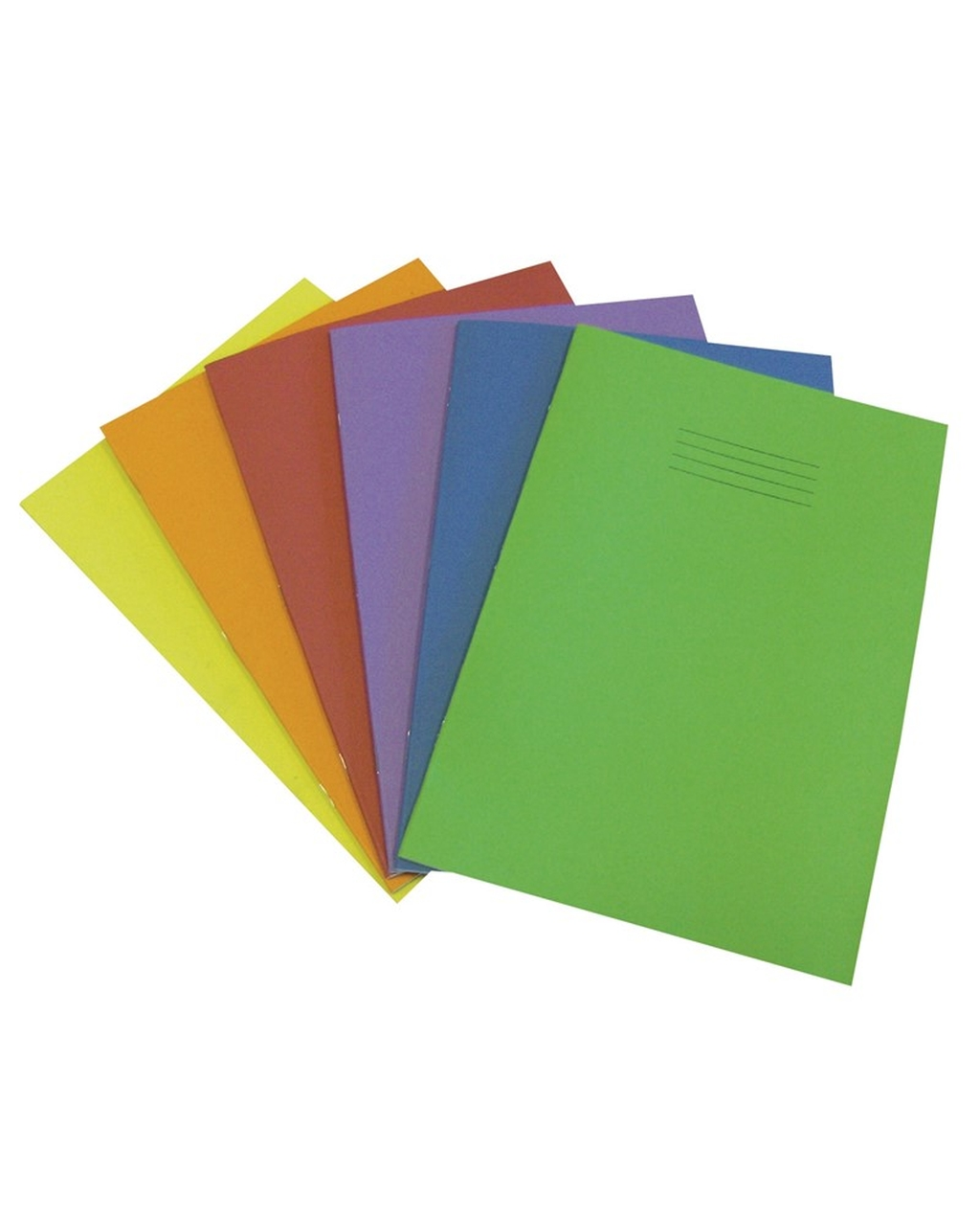 Exercise Book A4 (297 x 210mm) Light Green Cover 8mm Ruled / Plain Alternate Pages 64 Pages