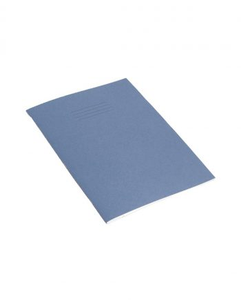 Exercise Book A4 (297 x 210mm) Dark Blue Cover 8mm Ruled & Margin 80 Pages