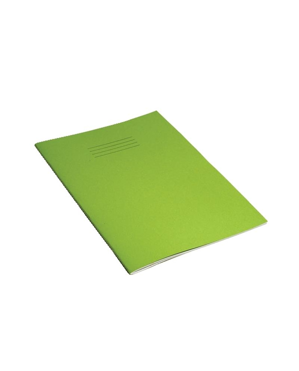 Exercise Book A4 (297 x 210mm) Light Green Cover 8mm Ruled & Margin 80 Pages