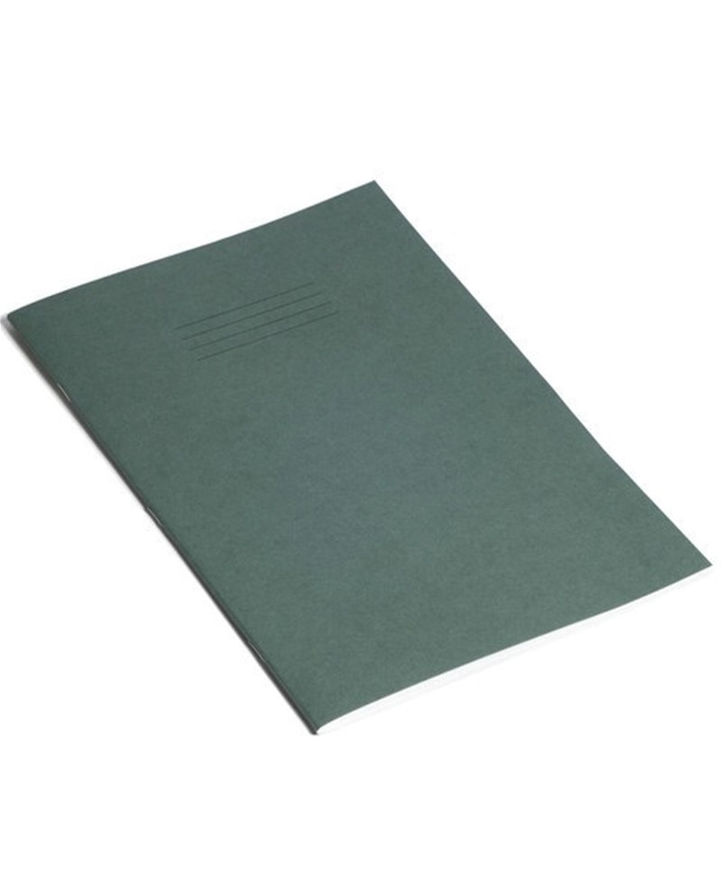 Exercise Book A4 (297 x 210mm) Dark Green Cover 8mm Ruled / Plain Alternate Pages 80 Pages