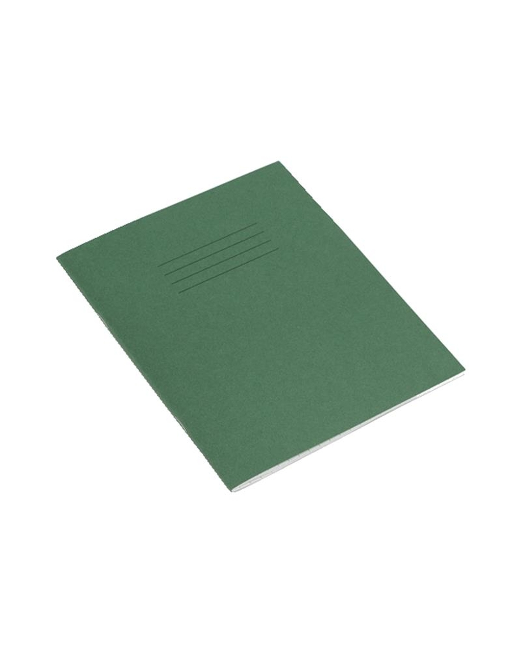 Exercise Book 8 x 6.5 (203 x 165mm) Dark Green Cover 4mm Blue Ruled Centred,16mm Red Ruled 32 Pages