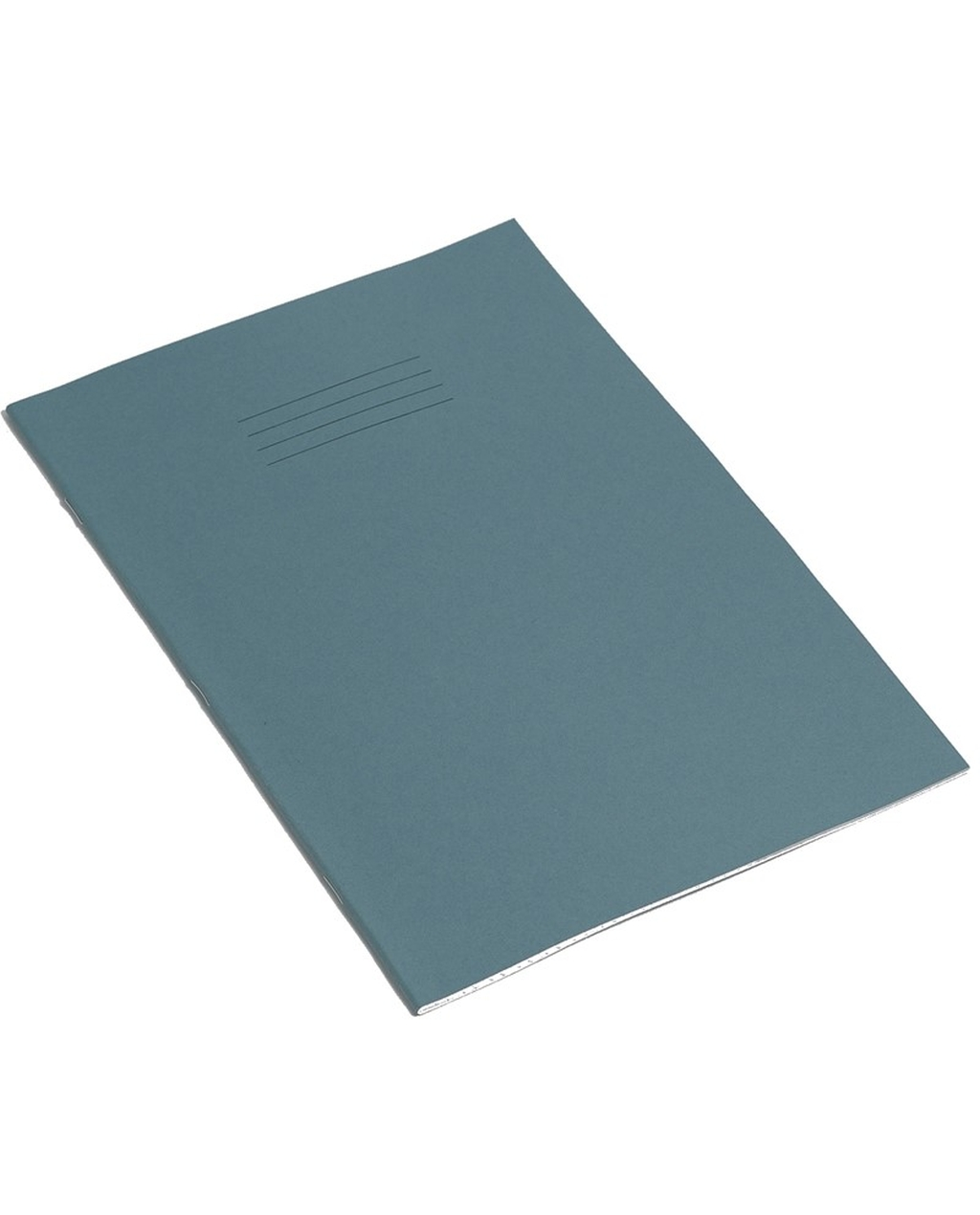 Exercise Book 8 x 6.5 (203 x 165mm) Light Blue Cover 8mm Ruled & Margin 48 Pages