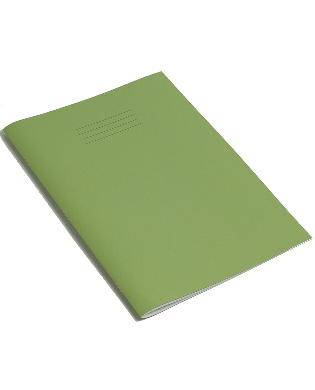Exercise Book 8 x 6.5 (203 x 165mm) Light Green Cover 8mm Ruled & Margin 48 Pages