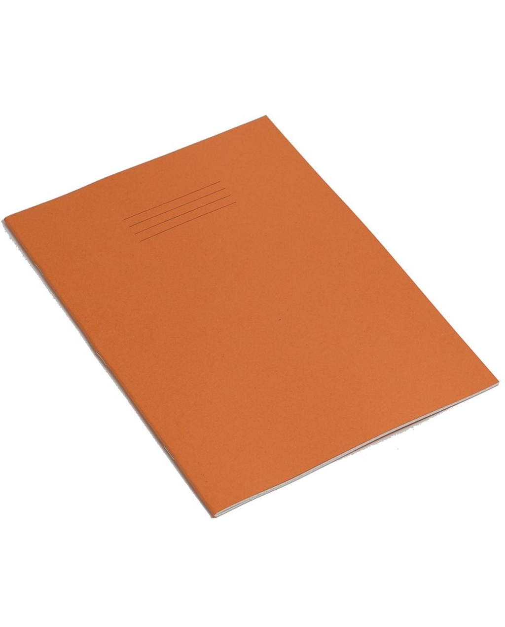 Exercise Book 8 x 6.5 (203 x 165mm) Orange Cover 8mm Ruled & Margin 48 Pages