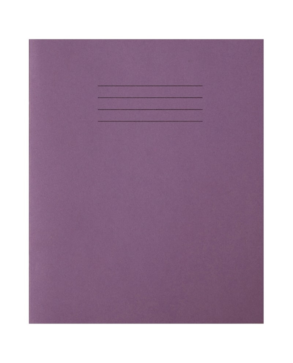Exercise Book 8 x 6.5 (203 x 165mm) Purple Cover 8mm Ruled & Margin 48 Pages