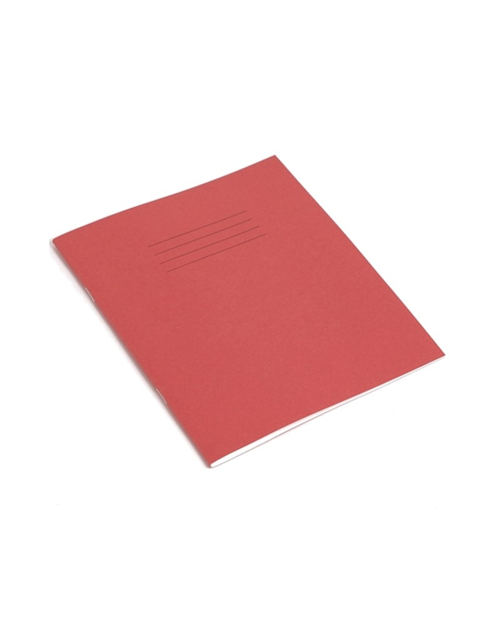 Exercise Book 8 x 6.5 (203 x 165mm) Red Cover 12mm Ruled 48 Pages