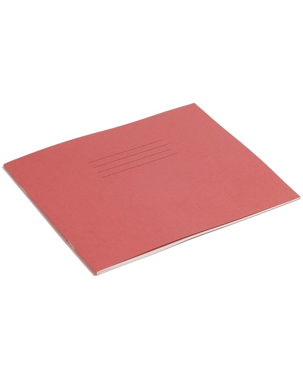 Exercise Book 8 x 6.5 (203 x 165mm) Red Cover 15mm Ruled 48 Pages