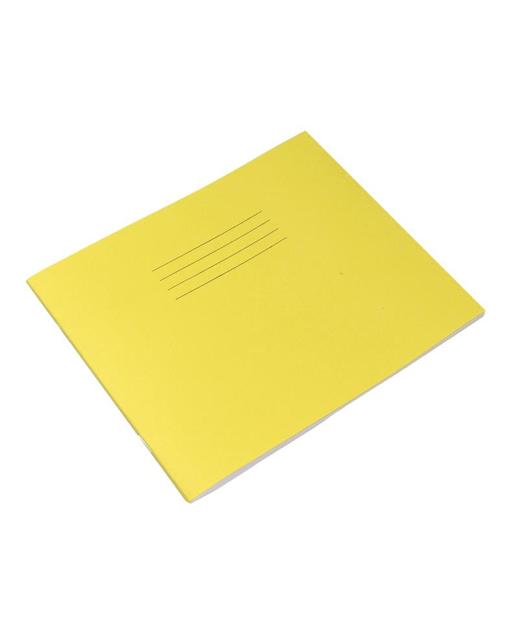 Exercise Book 8 x 6.5 (203 x 165mm) Yellow Cover Half Plain & Half 15mm Ruled 48 Pages