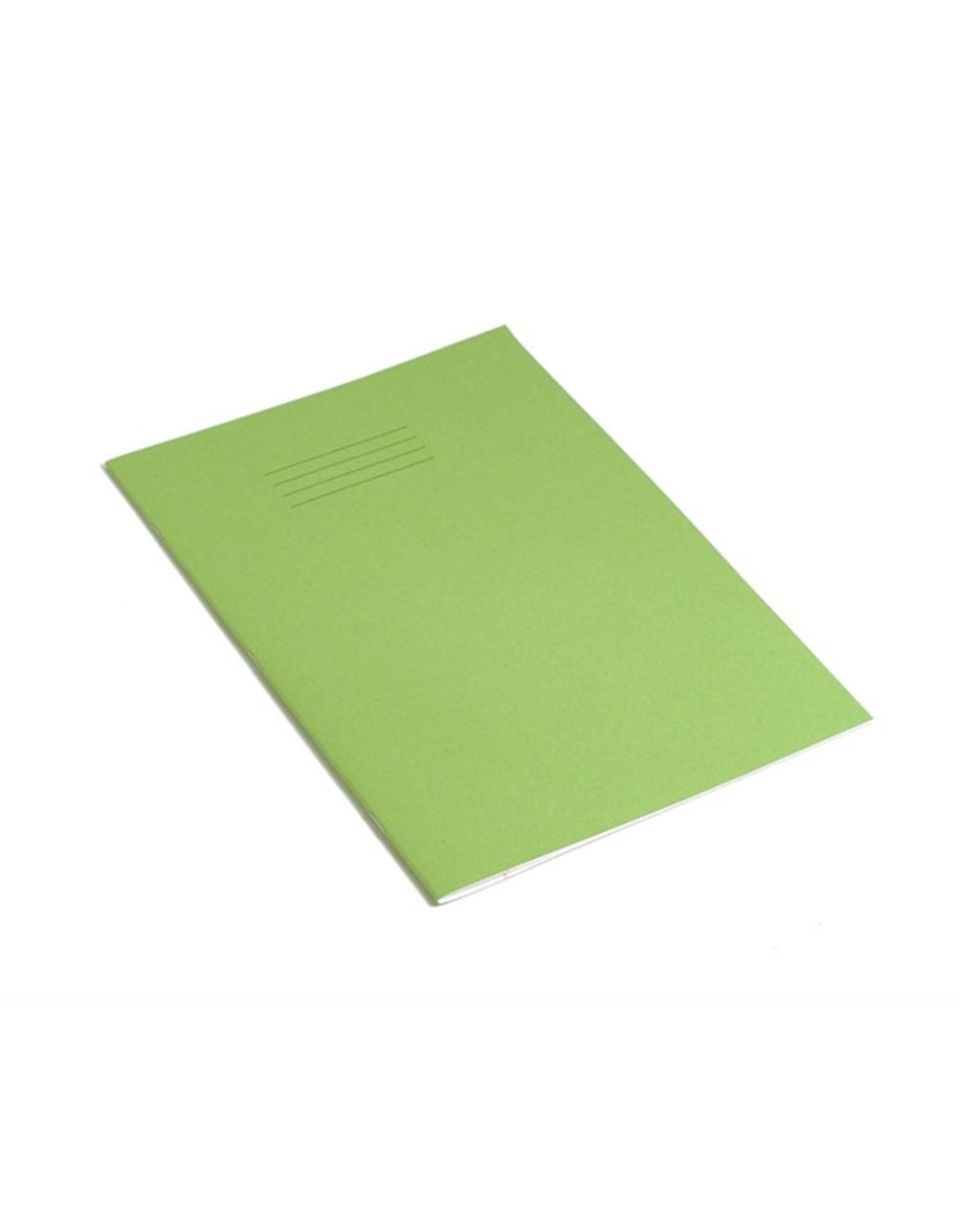 Exercise Book A4 (297 x 210mm) Light Green Cover 8mm Ruled & Margin 96 Pages