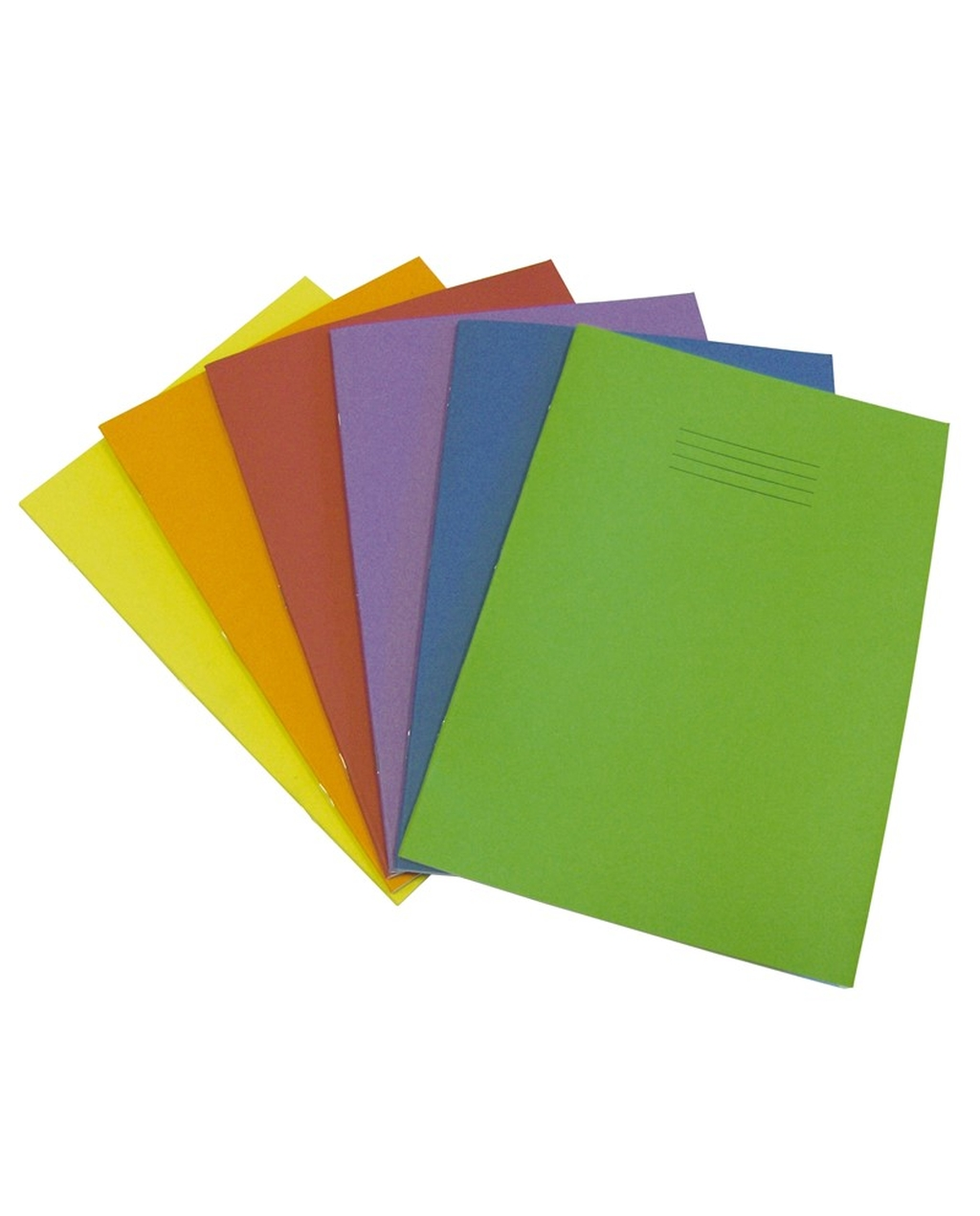 Exercise Book A4 (297 x 210mm) Light Green Cover 8mm Ruled & Margin 60 Pages
