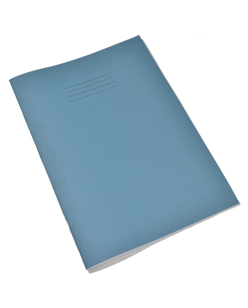 A4 Tinted Ex Books 8mm Ruled & Margin Green Paper, Light Blue Cover