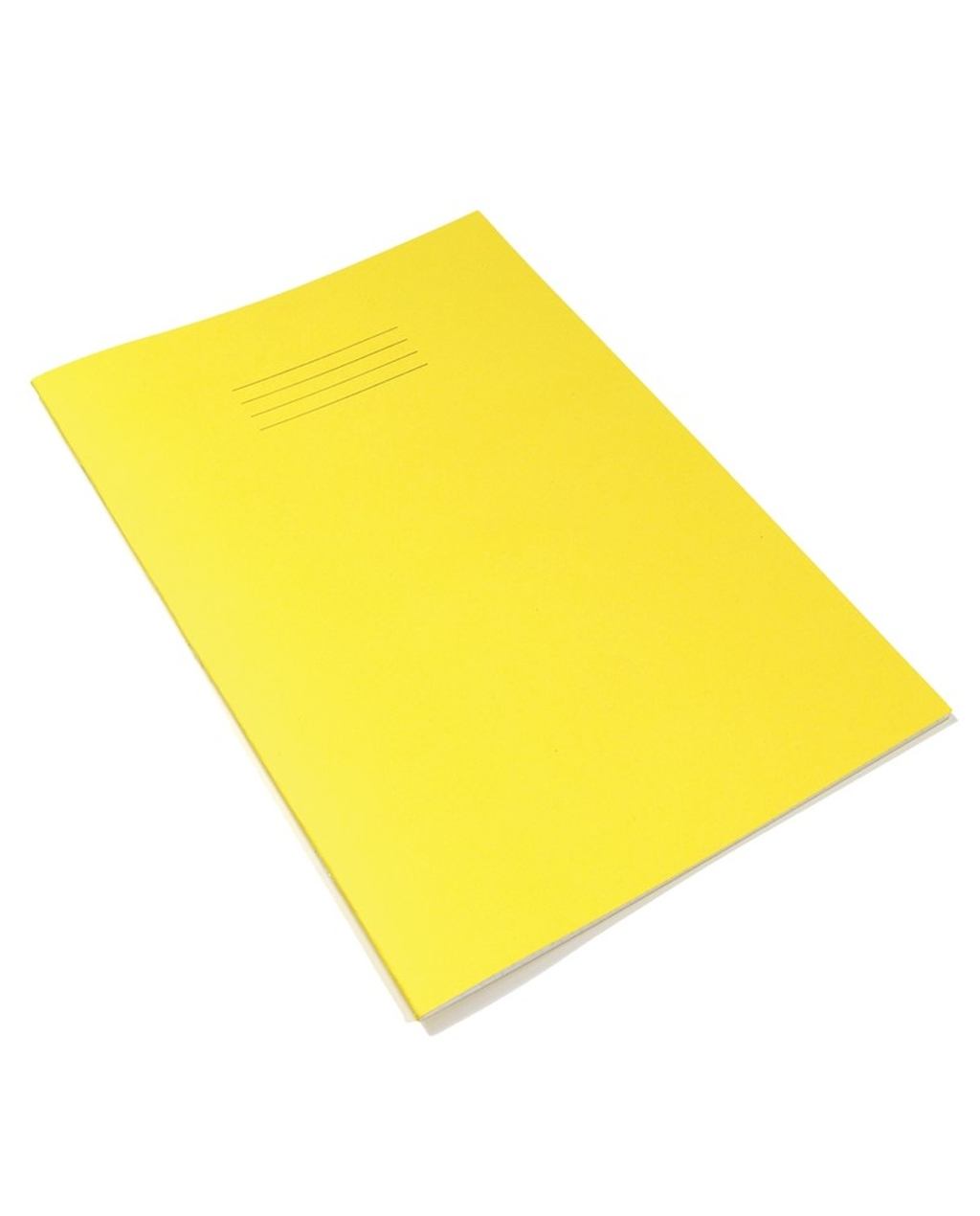 A4 Tinted Ex Books 8mm Ruled & Margin Cream Paper, Yellow Cover