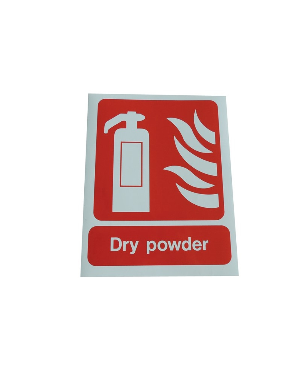 Fire Extinguisher Sign: Dry Powder