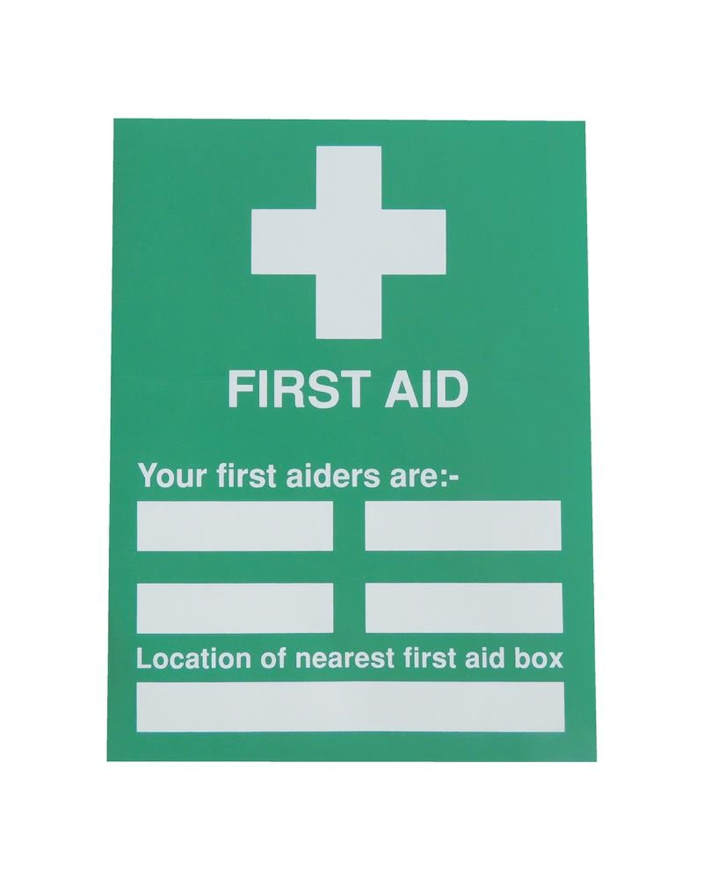 First Aider's Sign