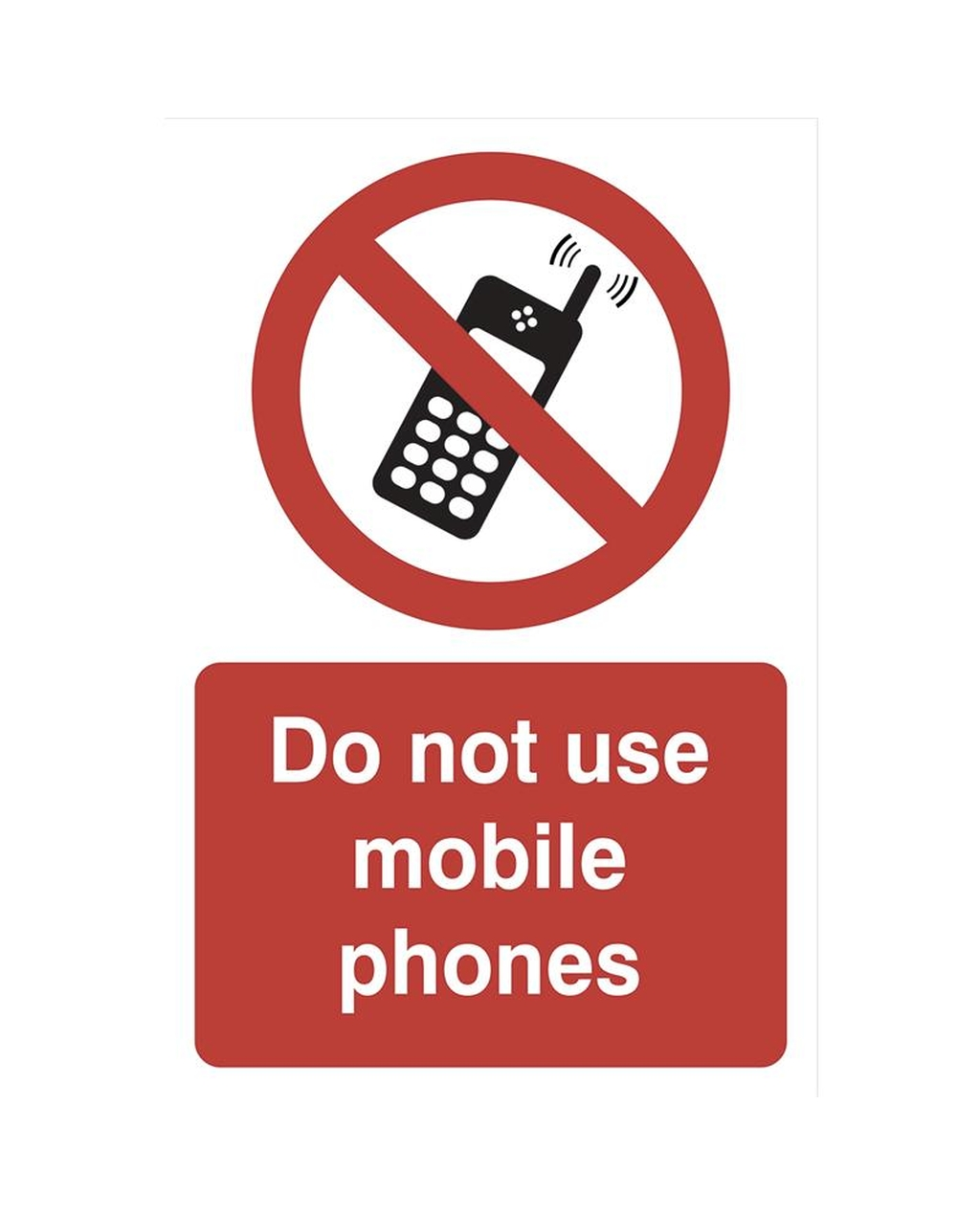 do not use mobile phones -sav 200 x 300mm