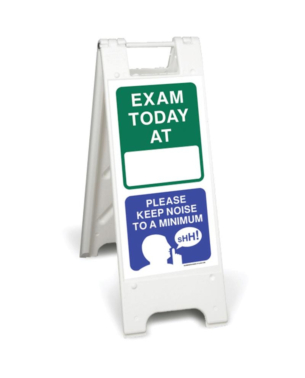 Exam today at ( blank box) - please keep noise to a minimum (mcd81)