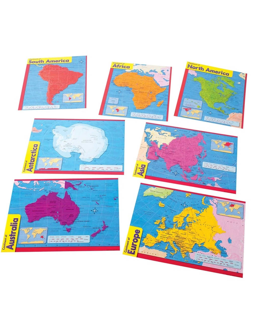 Continents Poster Combo Pack