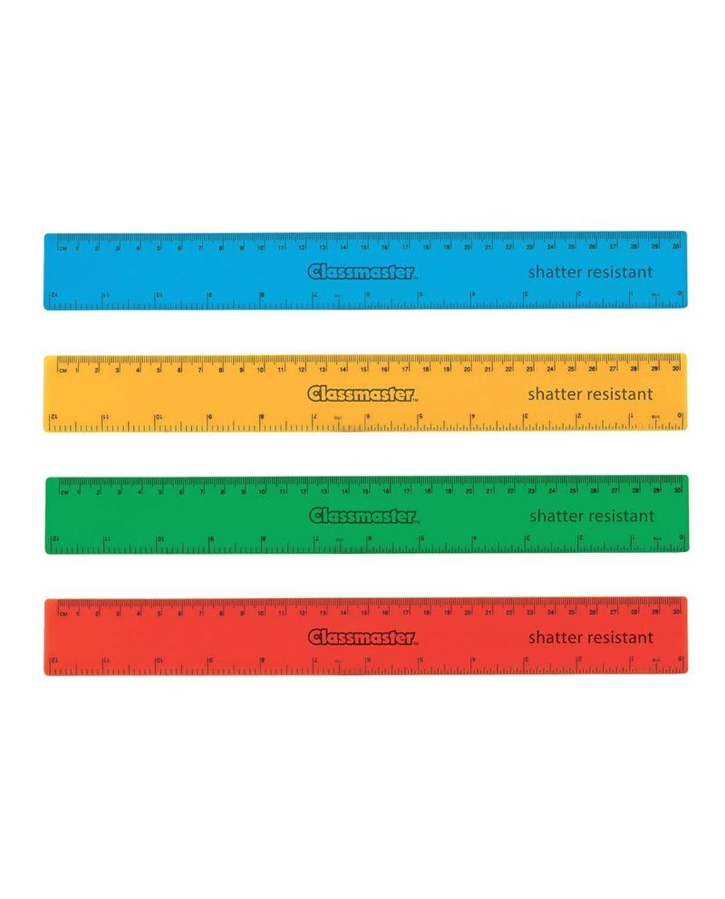 30cm Coloured Ruler