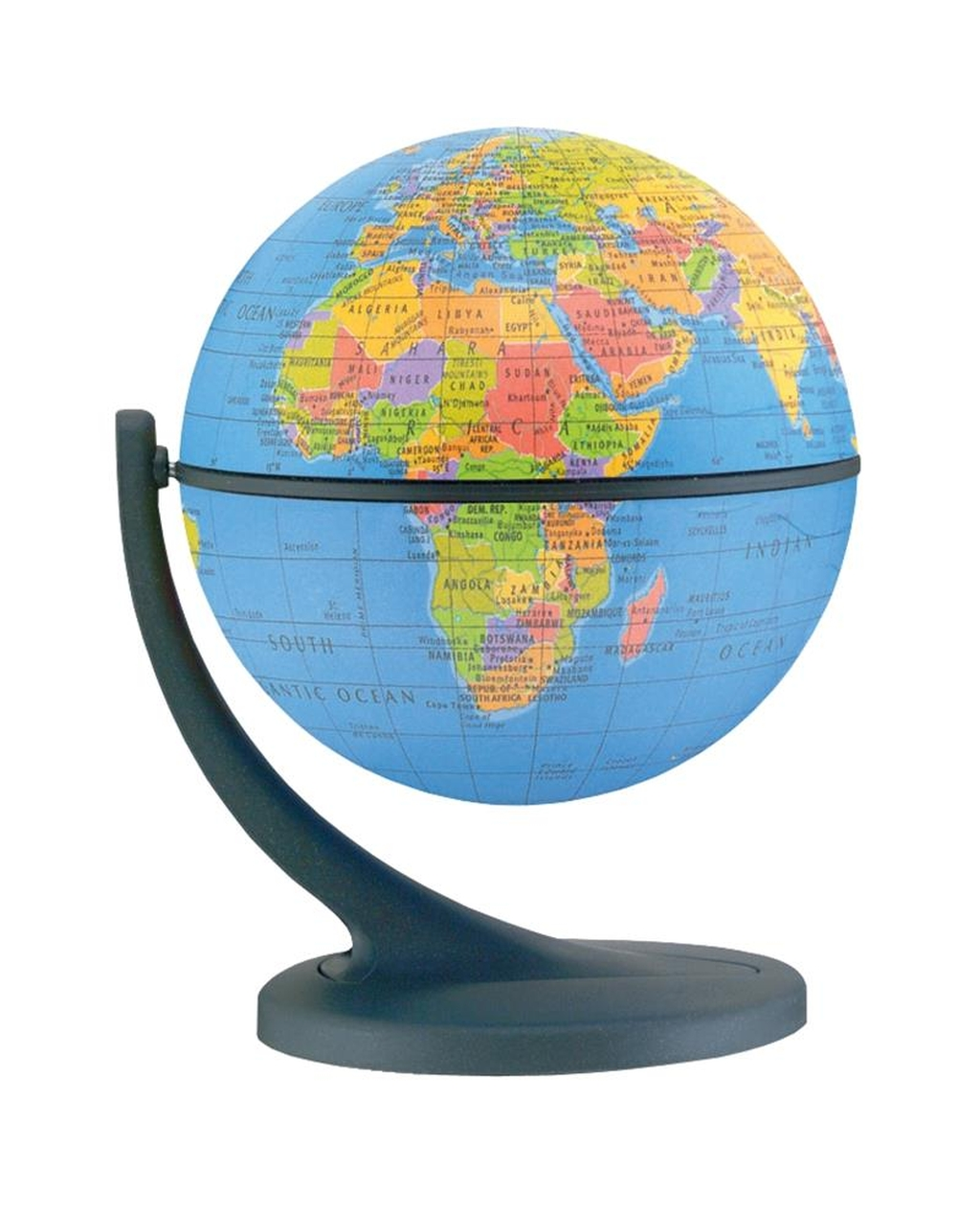 Tilt and Swivel Political Globe
