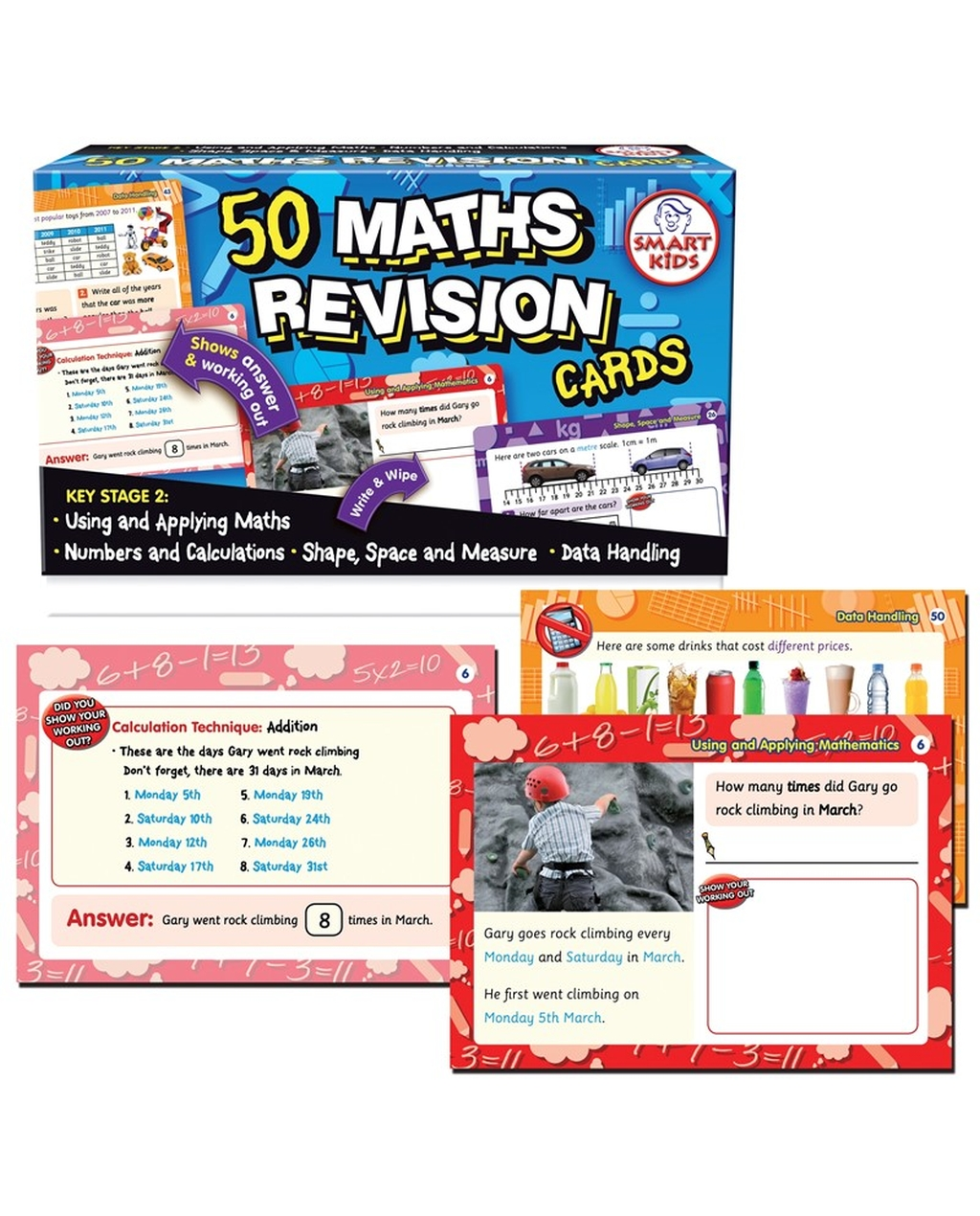 50 Maths Revision Cards