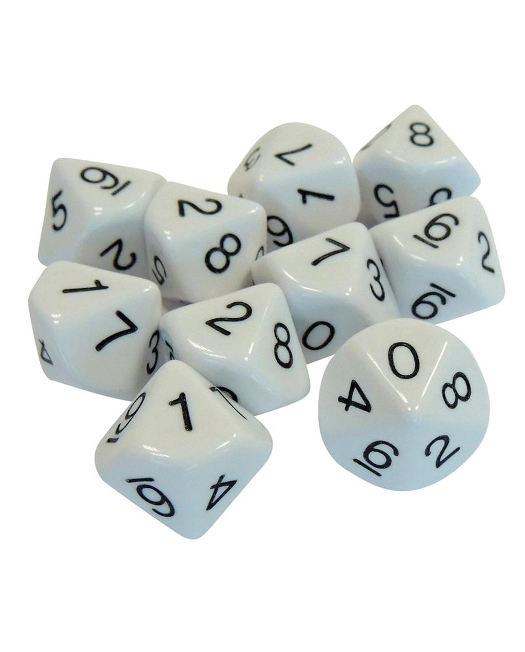 10 Sided Numbered Dice (0-9)