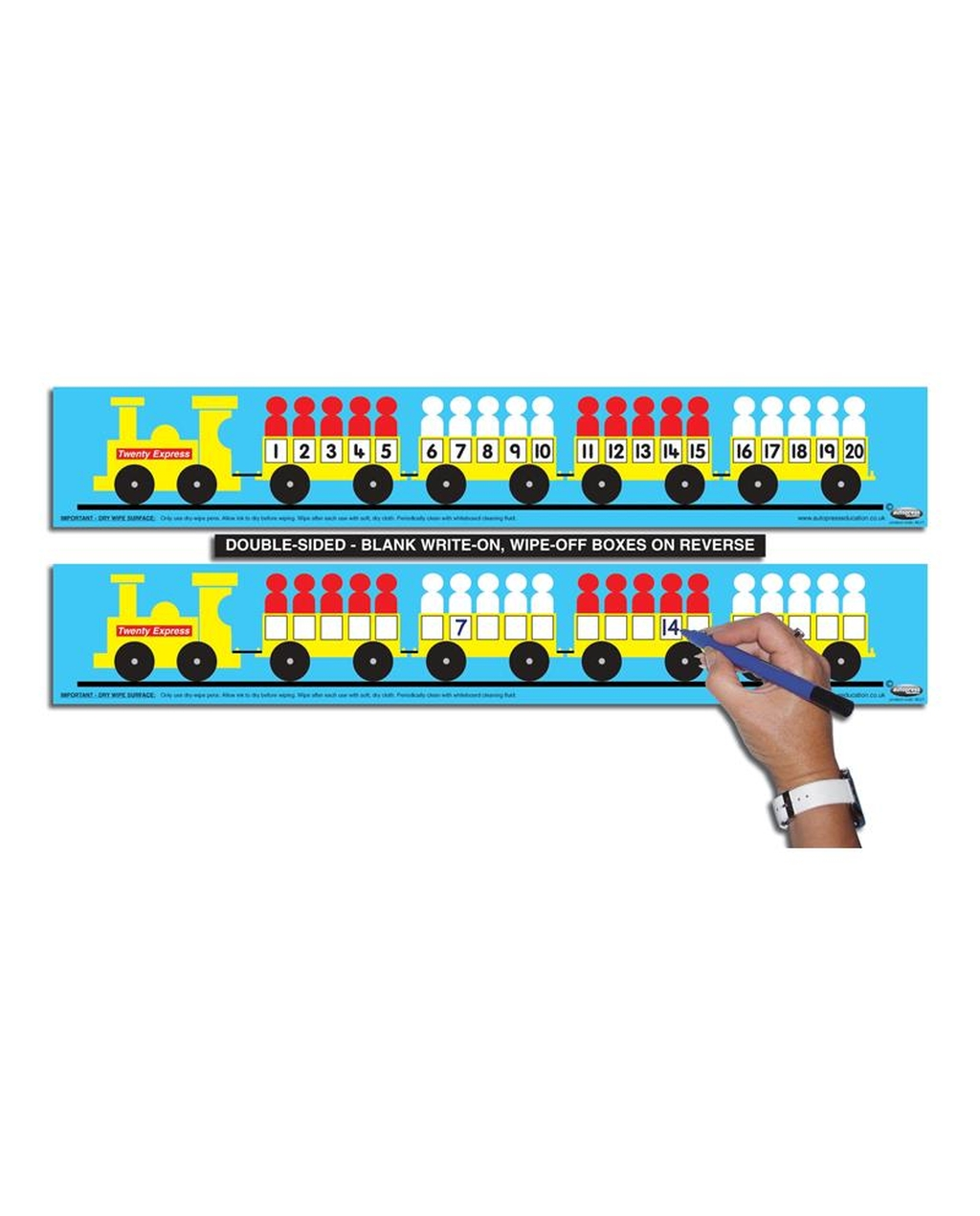 1-20 Number Train - Childs (Pack of 6)