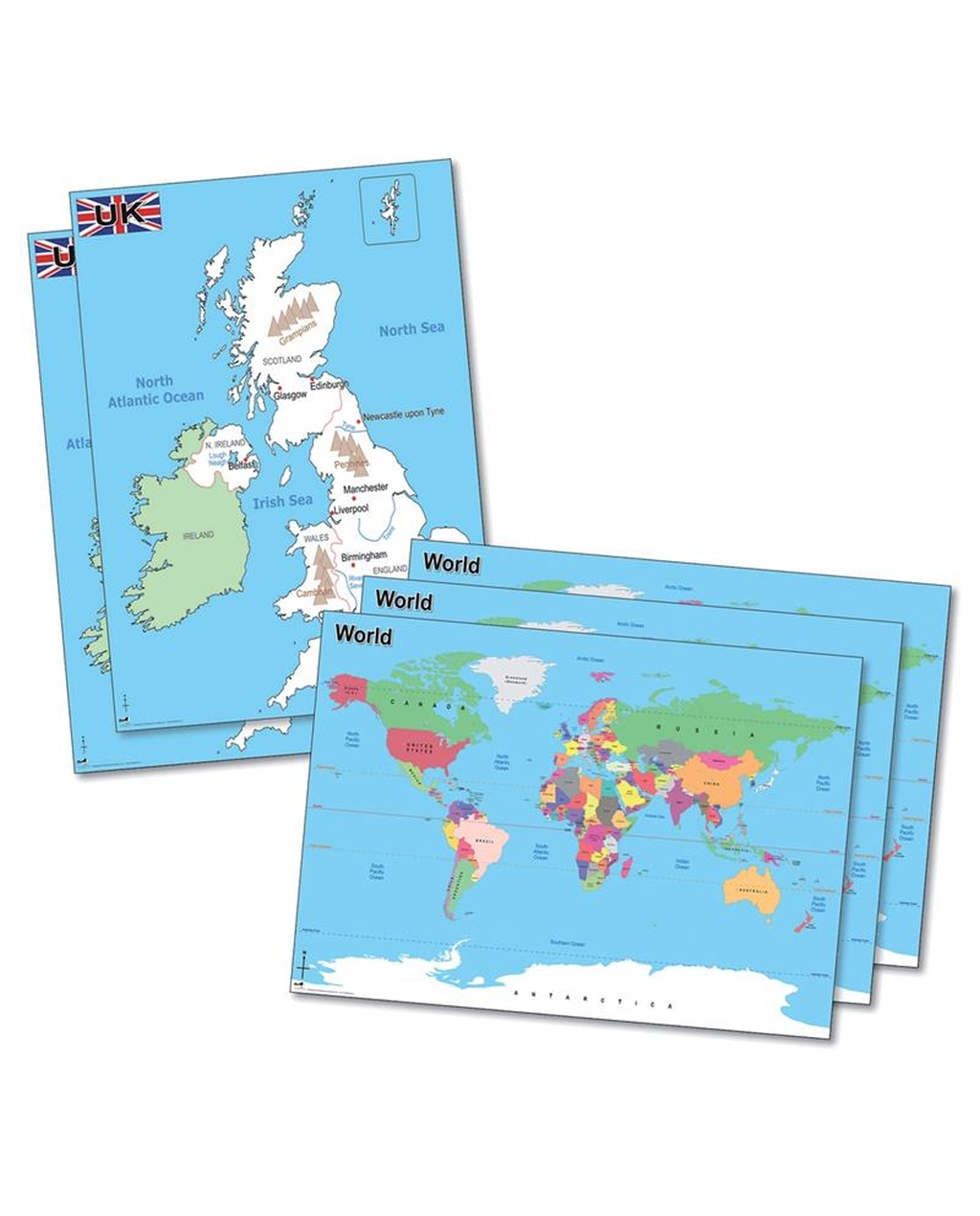 Deskmats-Simple Maps Deskmats