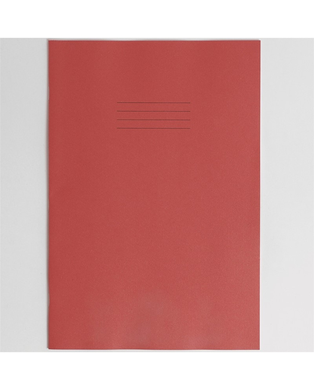 Exercise Book A4+ size (330 x 250mm) Red Cover Plain - No Ruling 40 Pages