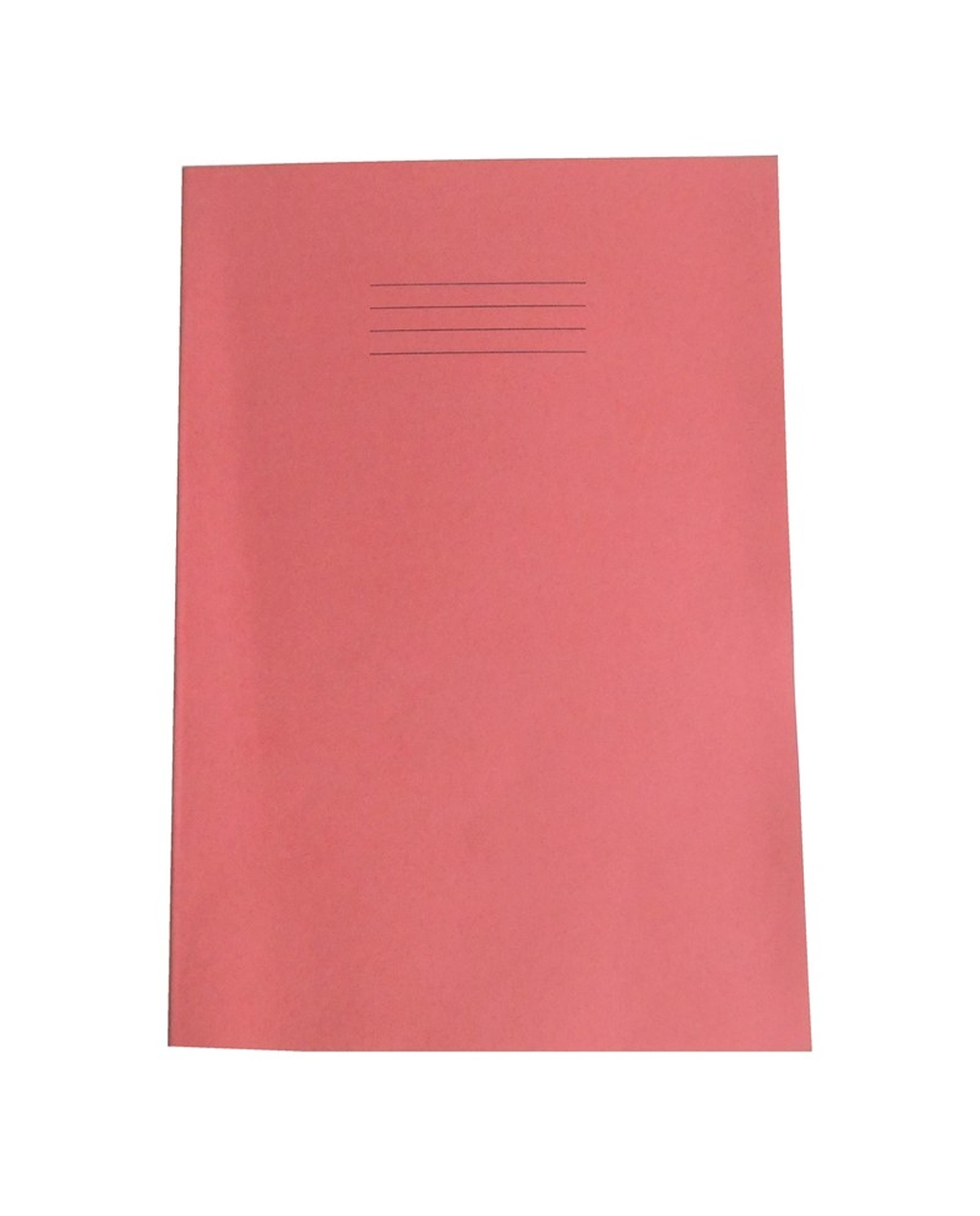 Exercise Book A4+ size (330 x 250mm) Red Cover 8mm Ruled 40 Pages