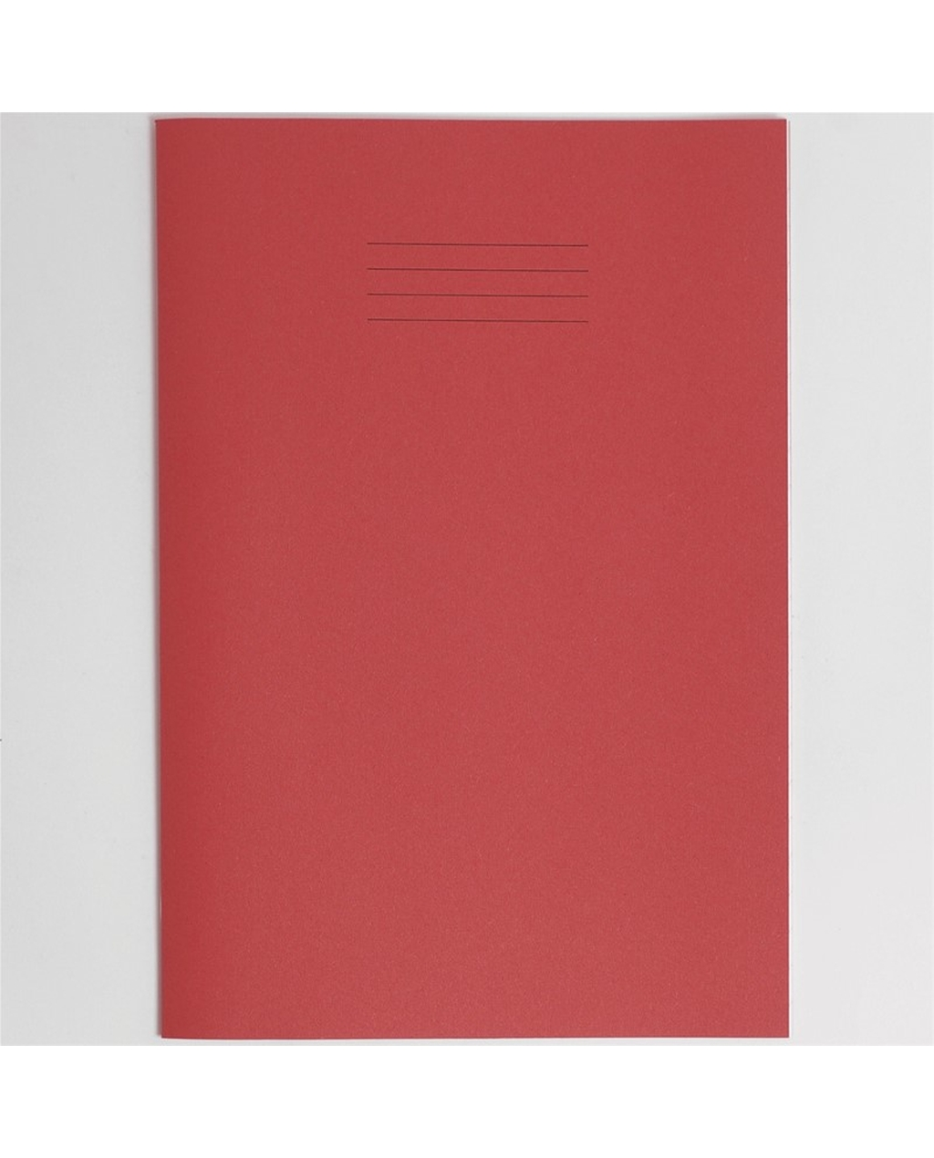 Exercise Book A4+ size (330 x 250mm) Red Cover 12mm Ruled 40 Pages