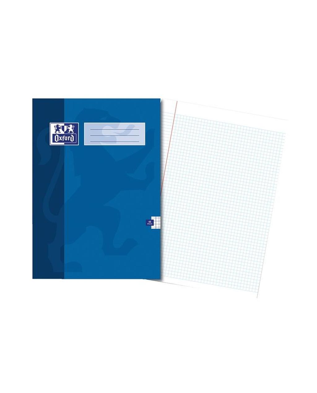 220x170 Oxford Ex Bk 48Pg 8Mm Mar Blue