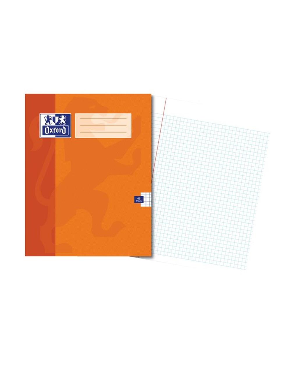 220x170 Oxford Ex Bk 48Pg 5Mm Sq Orange