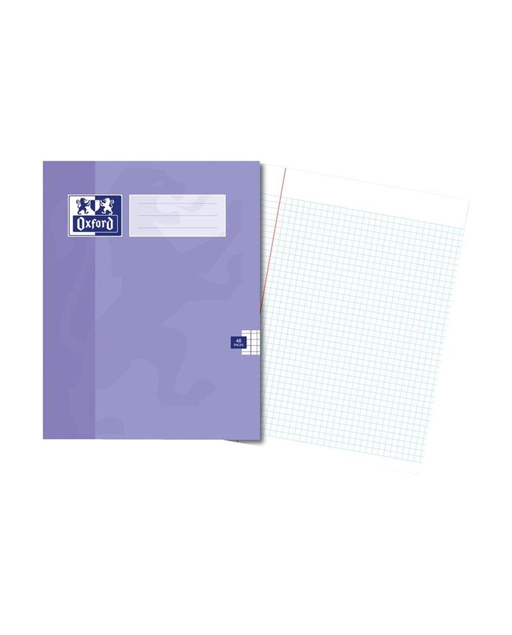 220x170 Oxford Ex Bk 48Pg 5Mm Sq Purple