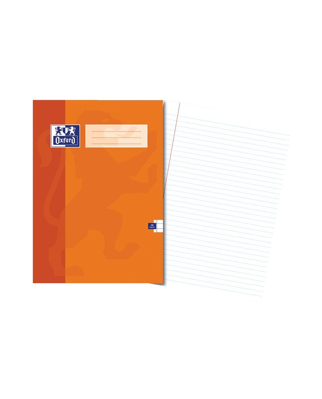 A4 Oxford Exercise Book -  48Pg 8mm Mar Orange
