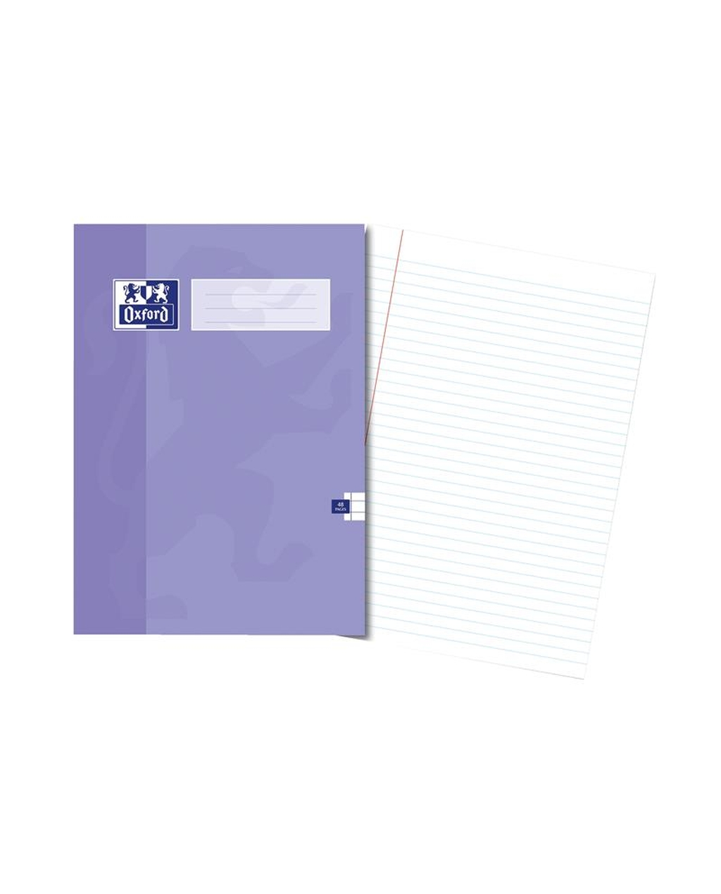 A4 Oxford Exercise Book - 48Pg 8mm Mar Purple