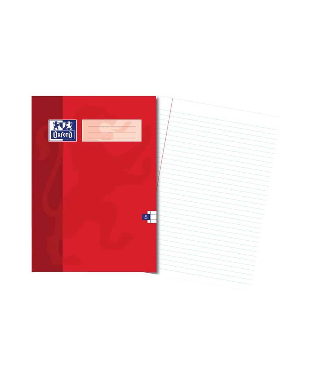 A4 Oxford Exercise Book - 48Pg 8mm Mar Red