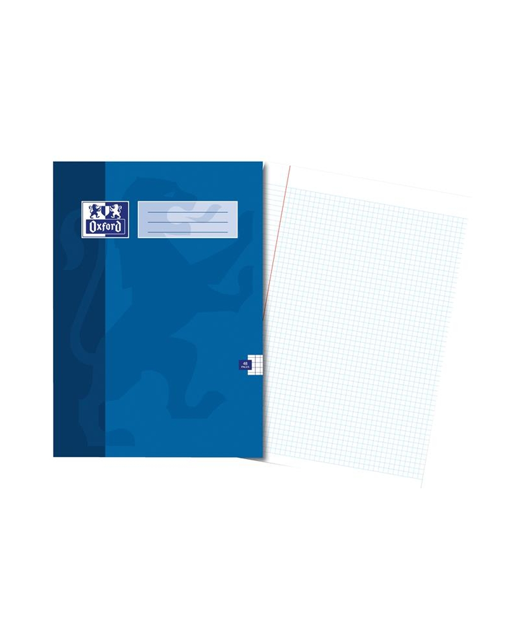 A4 Oxford Exercise Book - 48Pg 5mm Square Blue